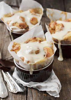 Individual Warm Cinnamon Roll Bites with Cream Cheese Icing