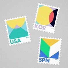 Stamps #stamp #graphic #design #artwork #illust #illustration #meanimize #minimalism