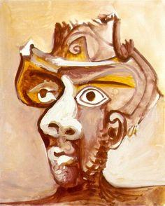 Pablo Picasso. Tête d homme au chapeau. 1971 year