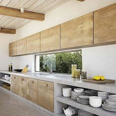 New Kitchen Modern Interior Subway Tiles Ideas Rustic Cabinets, Modern Kitchen Cabinets, Kitchen Cabinet Design, Kitchen Modern, Kitchen Countertops, Concrete Kitchen, Concrete Countertops, Home Decor Kitchen, Rustic Kitchen
