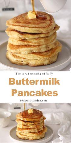 The Best Buttermilk Pancake Recipe, Buttermilk Pancakes Fluffy, Buttermilk Recipes, Banana Pancakes, Banana Bread, Brunch Recipes, Breakfast Recipes, Recipes Dinner, Dessert Recipes