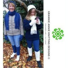 Slouch hat, scarf, leg warmers, gloves knitting pattern