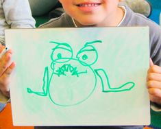 Guided drawing is a great way to teach children the names of different EMOTIONS! All you need is a very simple face, (such as these on the frogs!) and then you can show children how to draw a happy, sad, mad, or silly frog! There are directions for this simple lesson are on my blog! Simple Face, Different Emotions, All You Need Is, Teaching Kids, Drawing Ideas, About Me Blog, Drawings, Happy, Ideas For Drawing
