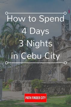 While a 4D3N Cebu Itinerary is not enough to squeeze all the amazing adventures you can do in the province, we've come up with one that will allow you to experience the best of the best!