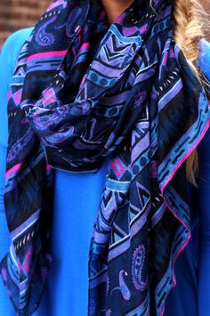 Paisley Tribal Print Scarf   UOIOnline.com: Women's Clothing Boutique