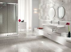 bathroom-mosaic-floor-tile-double-l-shaped-brown-finish-mahogany-cabinet-chrome-metal-wall-mount-faucet-mixed-arc-stainless-steel-faucet-cream-ceramic-tiled-flooring-.jpg (1097×800)