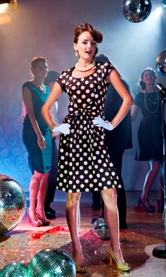 Make your dotty debut in this lighthearted polka dot charmer. Sure to steal hearts from the moment you enter a room, the Debutantes gently s. Deb Dresses, Modest Dresses, Cute Dresses, Beautiful Dresses, Vintage Inspired Dresses, Vintage Style Dresses, Modest Fashion, Fashion Dresses, Shabby Apple