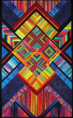 The Hidden Wells Stripe Series quilt by Melody Johnson - this time vertical.