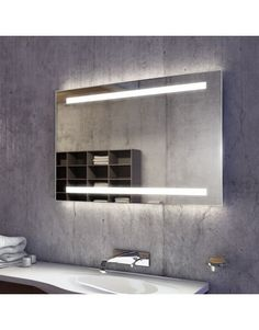 Lumin Wide LED Light Bathroom Mirror 832h