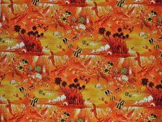 CAB0017 - 100% Cotton Fabric: Hawaiian Print Fabric