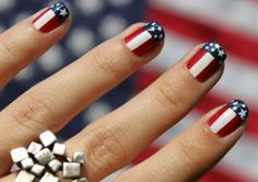 America inspired nails