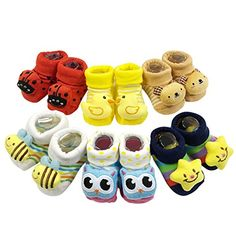 Bowbear Adorable Newborn 6 Pair Non-Skid Bootie Socks Baby Shoes Online, Baby Online, Baby Girl Socks, Girls Socks, Baby Girls, Knit Baby Booties, Booties Crochet, Non Skid Socks, Bootie Socks