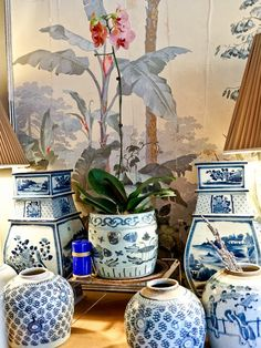 Blue and white inspiration from one of my favorite stores in Charlottesville, Virginia called And George. And this is George. ...
