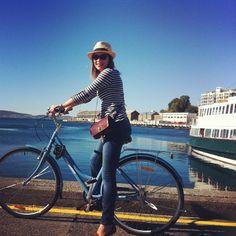 Rent a bike & cycle up to MONA museum Hobart, Tasmania
