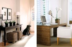 Love this cane desk Yvonne O'Brien Interior Design African Interior Design, African Design, Dog Design, House Design, Colonial Style Homes, Entry Hallway, Reception Areas, Inspired Homes, Beautiful Homes