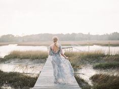 Romantic Blue Wedding Dress \\ Photography - Charla Storey