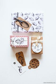 Free Christmas gift tags.