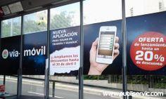 Rotulación Marquesina de Vía - Móvil. ¿te interesa? Contacta con nosotros. #rotulacion #vehiculo #tranvia #publiservic #marquesina Advertising