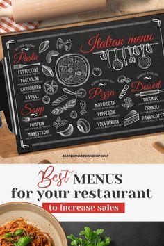 All food menus Archives - Barcelona Design Shop Bakery Menu, Menu Restaurant, Restaurant Recipes, Restaurant Design, Burger Menu, Pizza Menu, Food Menu Design, Food Truck Design, Food Menu Template