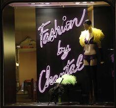 Septembre 2014 Vogue Fashion Night Out Vitrine, Boutique Chantal Thomass 211 Rue Saint-Honoré Paris #ChantalThomass #Lingerie #Paris