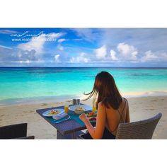 내일까지 계속 비소식이 들리는데요, 따뜻한 차 한잔 하시면서 상쾌한 아침 시작하시기를 바랍니다~  몰디브에서는 푸른 바다를 보면서 아침식사를 즐기고 있습니다~! #goodmorning #몰디브 #리얼몰디브