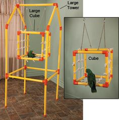 Parrot Cube Playstand ~~~ I should be able to make one of these!!! :D