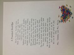 End of year poem for my prek!