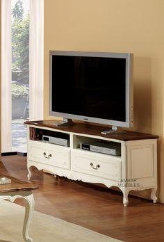 Mueble Televisión Vintage Blanco Audry Reclaimed Furniture, Refurbished Furniture, Furniture Makeover, Painted Furniture, Antique Tv Stands, Furniture Decor, Living Room Furniture, Living Rooms, Dresser Tv Stand