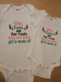 Rifles Racks and Deer Tracks that's what daddy's girl is made of!  Onesie Bodysuit