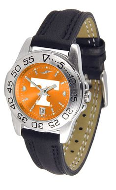 Tennessee Volunteers Ladies Sport Watch With Leather Band & AnoChrome Dial