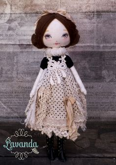 "Lavanda ""Midnight Dream"" ~ Handmade doll | I HAVE WINGS And still available!!"