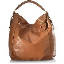 Prada Calfskin Leather Hobo Handbag