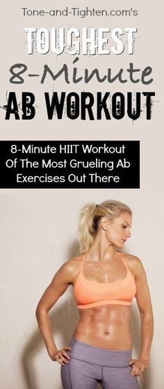 The toughest ab workout you can do in 8 minutes | From Tone-and-Tighten.comThe toughest ab workout you