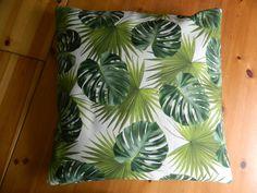 Hand Made Tropical Fern Leaf Cushion Cover - Green Leaf Pillow - Hand Made Cushion Cover by SarahJaneSeamstress on Etsy