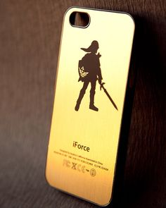 ZELDA LINK silhouette iPhone Case Cover 54s4 Gold by KittyCatCases, $16.99