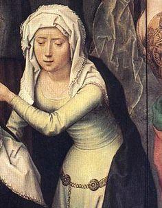 Ганс Мемлинг «Распятие» (фрагмент) — «Алтарь Страстей» (центральная панель). 1491. Музей св. Анны, Любек