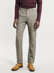 Villain Wool Checked Trousers*