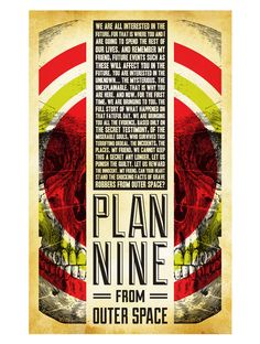 Alternative Movie Poster for Plan 9 from Outer Space by Jason Kauzlarich