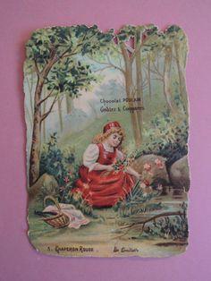 CHROMO Découpi. Chocolat  POULAIN. Les CONTES.  PETIT CHAPERON ROUGE.  N° 3