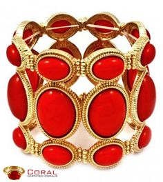 Adorn this stunning coral gold bracelet and look more #stylish .