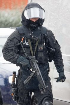 member of one of Germany's police special units SEK MEK ZUZ