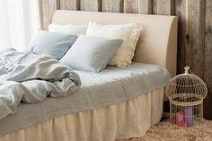 Softened LINEN DUVET COVER Handmade Flax Duvet Cover Sky
