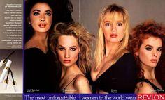 Revlon 1987   Linda Spierings, Rebecca Ghiglieri, Estelle Halliday, Kathryn Redding