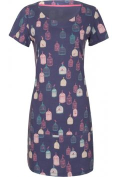 MISTRAL Bird Cage Print Scoop Neck Tunic With Seam Deep Cobalt - MISTRAL from Mistral UK