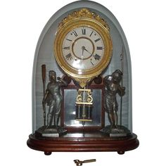 "Rare ""Crystal Palace No. 1 Extra"" Model Mantle Clock made by Ansonia, from antiqueinvestments on Ruby Lane"