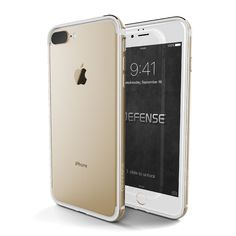 Defense Edge case for iPhone 7 plus is a slim and protective aluminum iPhone bumper with a TPU Frame machined from from solid aluminum, and an injection molded rubber to absorb shocks and jolts to pro