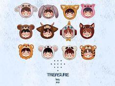 T Art, Kpop Fanart, Treasure Boxes, Cute Drawings, Chibi, Wattpad, Bts, Stickers, Cartoon