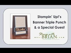 NEW VIDEO - Banner Triple Punch with a Special Guest - STAMP WITH BRIAN