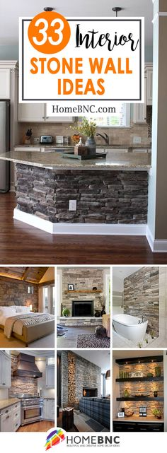 33 Best Interior Stone Wall Ideas and Designs for 2019 Stone Interior, Interior Walls, Best Interior, Interior Design, Home Decor Wall Art, Home Decor Bedroom, Küchen Design, House Design, Design Ideas