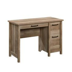Updating the style of your home office space has never been easier. Add a touch of rustic-inspired design and beauty to your home with this desk from the Cannery Bridge collection. This home office desk offers a spacious top surface that provides you Engineered Wood, Desk Essentials, Desk Storage, Small Storage, Desk With Drawers, Built In Storage, Drawers, Open Storage, Desk
